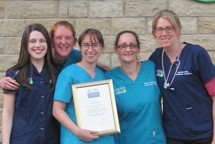 Calder Vets' Dewsbury animal hospital is celebrating being judged 'outstanding' in three Practice Standards Scheme awards, no less.