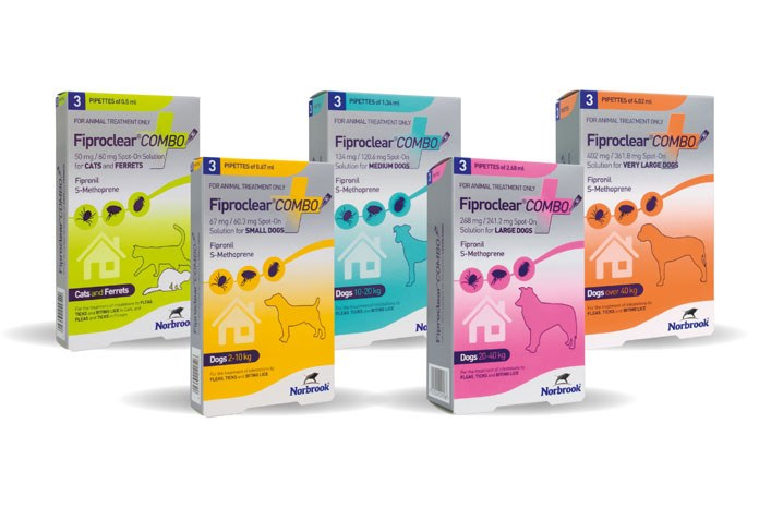 Norbrook Laboratories has launched Fiproclear Combo, a new spot on for the control and prevention of fleas, ticks and biting lice.