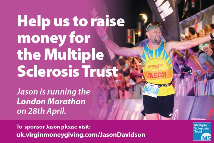 Jason Davidson MRCVS from Companion Care in Derby, who in 2017 helped raise over £6000 to help stop rhino poaching, is at it again. This time, he's running the London Marathon in aid of the Multiple Sclerosis Trust.