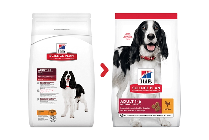 Hill's Pet Nutrition has introduced a new look for its Science Plan dog and cat range.