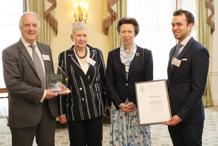 Dr Ben Swift from Royal Veterinary College and Dr Cath Rees from Nottingham University have been off to Buckingham Palace to collect the Royal Dairy Innovation Award for a bovine tuberculosis test they developed together.