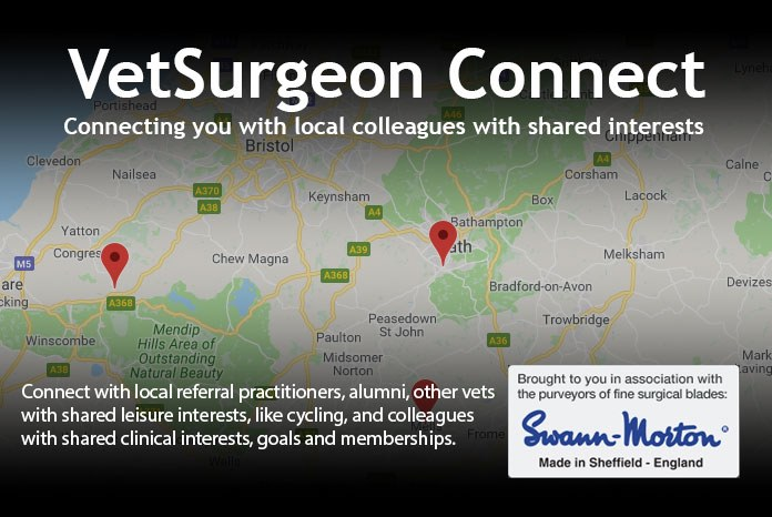 VetSurgeon.org, in association with Swann Morton, has launched a new system designed to help veterinary surgeons, students and other members of the profession forge useful contacts in their local area.